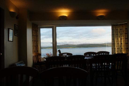 Taversoe Hotel: the view from the restaurant