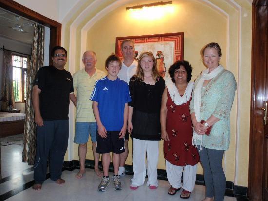 Jaipur Friendly Villa: Our family with Kul and Shveta