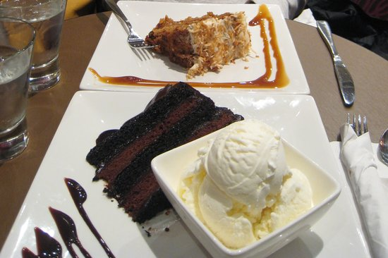 Carrot Cake and Chocolate Cake - Picture of Spin Dessert
