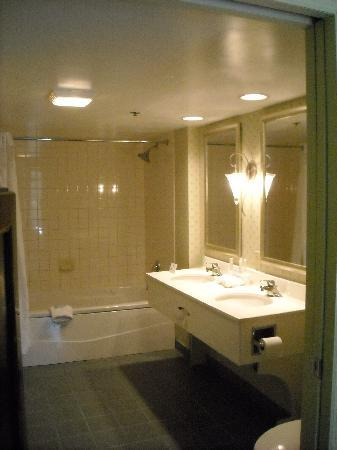 Holiday Inn Express Tampa-Brandon : spacious suite bathroom