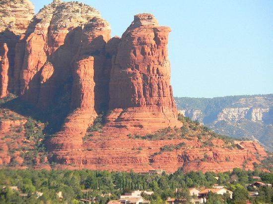 View Of Coffee Pot Rock Formation From Top Of Street