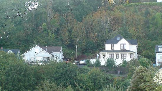 Benjamin Young Inn: View from B&B to The Goonies House