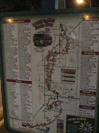 Comfort Suites Universal Studio Area: I Ride Trolley Map