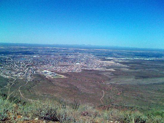 Franklin Mountains State Park: West side of El Paso