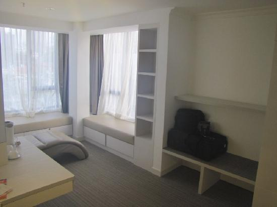 YMCA One Orchard: A cosy nook to enjoy the view.