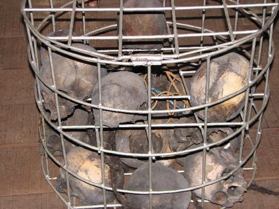 Annah Rais Longhouse Adventure: the skulls at the headhouse