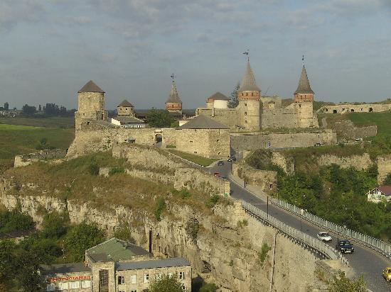 Kamianets-Podilskyi, Ucrania: die mittelalterliche Burg
