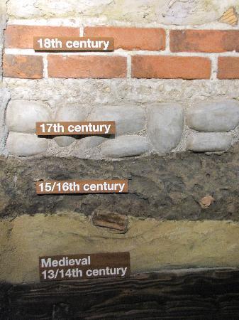Dublinia: Experience Viking and Medieval Dublin: Dublin layers