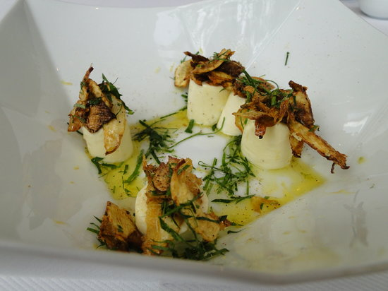 Jean Georges: goat cheese gnocchi