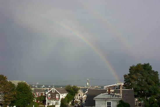 """Ampersand Guesthouse: """"After the Rain""""  Harbor view from the sun deck"""