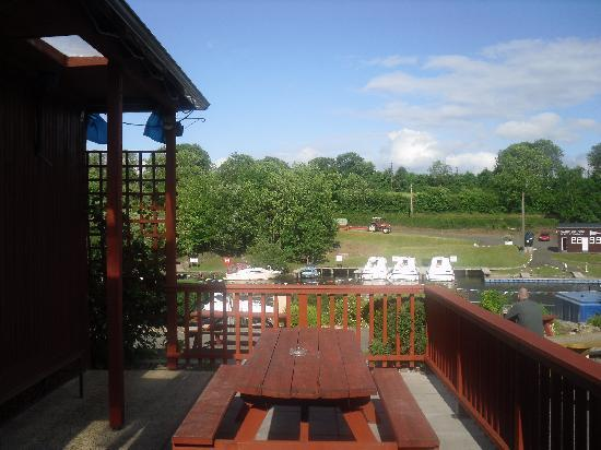 Carrybridge Lakeside Lodge: View over river
