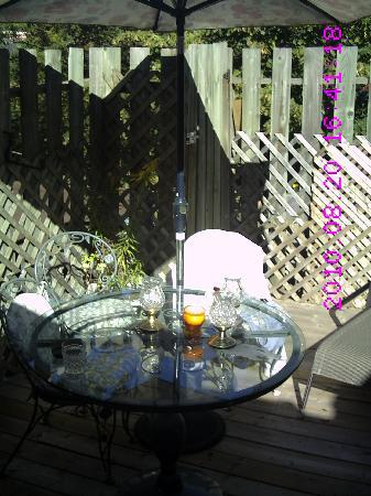 Pimblett's Downtown Toronto B&B: patio or etrrass