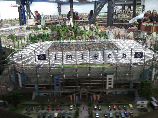 hamburg football stadium picture of miniatur wunderland. Black Bedroom Furniture Sets. Home Design Ideas
