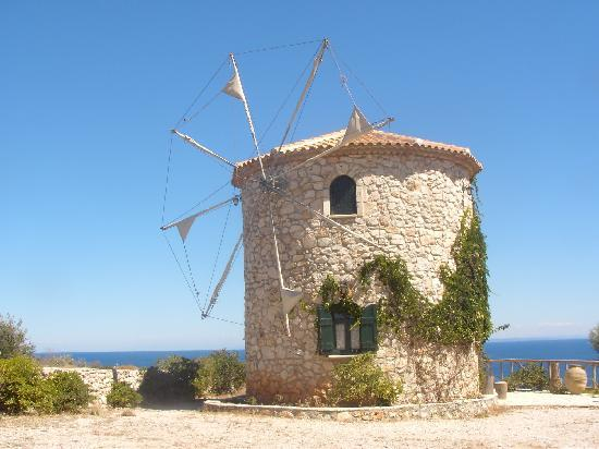 Zakynthos, Greece: Picture of the windmills at Skinari