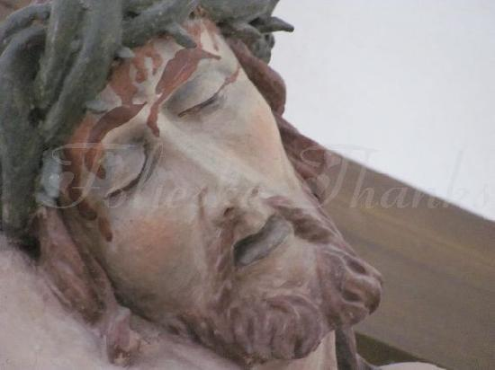 St. Nikolaus: detail of the crucifix
