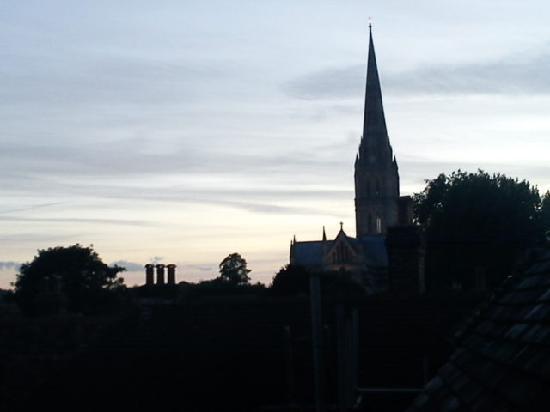 St Ann's House B&B: widok z okna