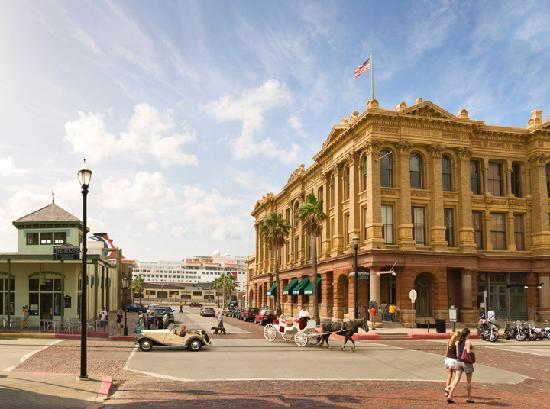 Galveston Island, TX: Strand St. in Historic Downtown Galveston