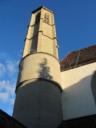 Holy Ghost Church: churchtower glowing in the sun