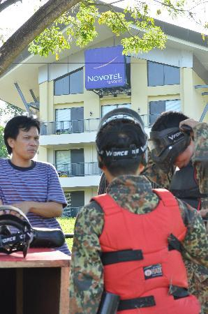 Novotel Manado Golf Resort & Convention Centre: Paintball @Novotel