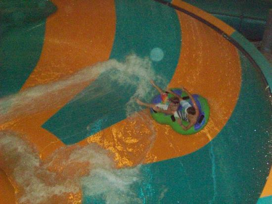 Double JJ Resort: In the Indoor Water Park :And Around They Go!