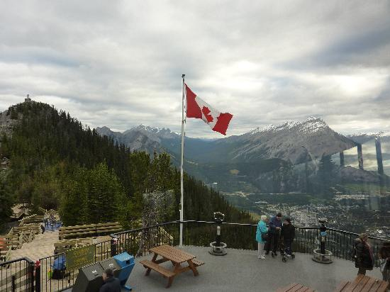 Banff Gondola: From inside the mountain top restaurant.