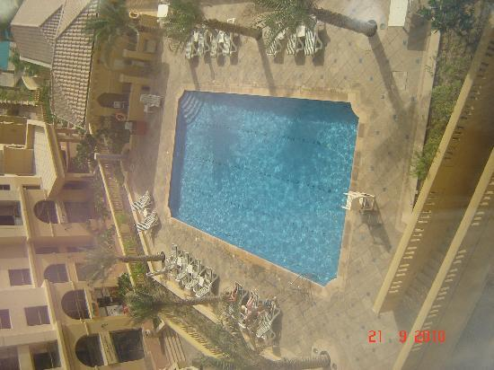 Suha Hotel Apartments by Mondo: View of pool from Bedroom