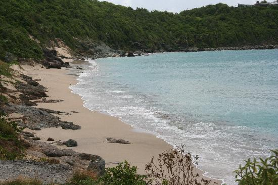 Colombier Beach: The beach was ours for the day!