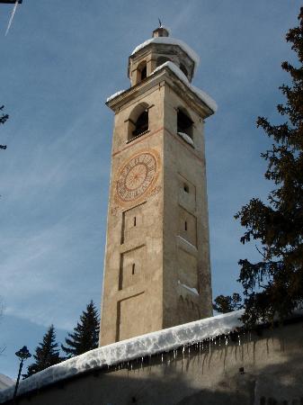 St. Moritz, Schweiz: Schiefer Turm