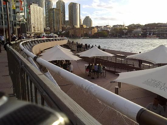 Sydney, Australia: View bove the 'Opera Bar' and Restaurant