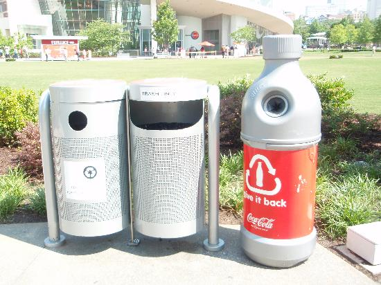 Atlanta, Gürcistan: Coca-Cola Mülleimer