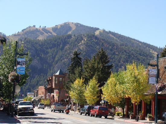 Sun Valley Resort: View Of River Run Slopes From Downtown Ketchum, ID