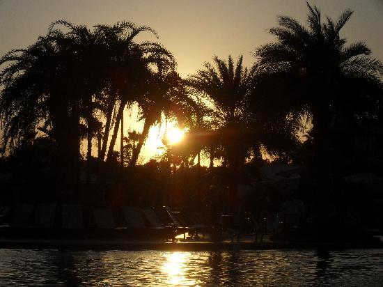 Bluegreen Fountains Resort: Sunset over the pool