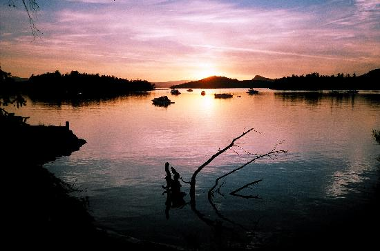 Saturna Lodge: sunset at Winter Cove