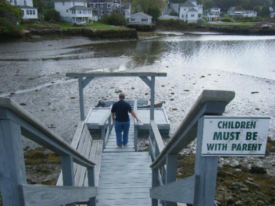 Harbour Towne Inn on the Waterfront: Dock - low tide