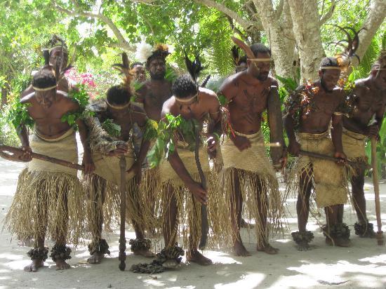 Efate, Vanuatu: Traditional Villagers in Kustom clothing