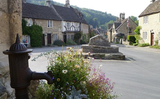 Castle Combe, UK: centre of the village