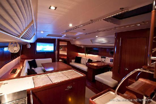Charleston Sailing Charters: Interior of Fate