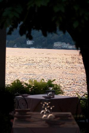 Hotel Florence: view across the lake from the Terrace restaurant