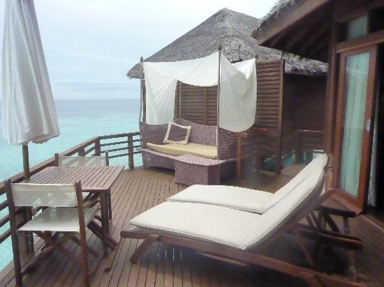 Baros Maldives: our deck