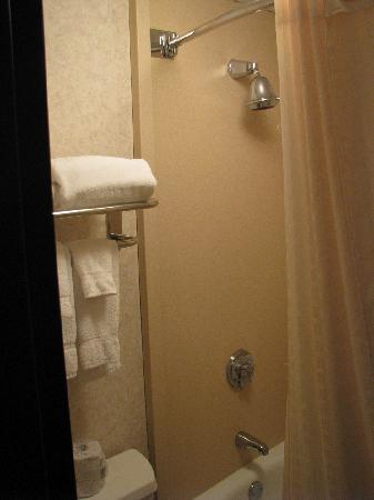 Best Western Plus Kelly Inn: Tiny Bathroom tub with towels