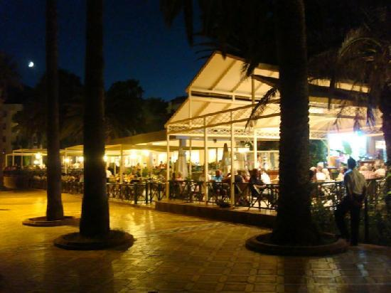 Ideal Prime Beach: The bar by night taken from the beach