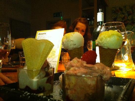 Olive Restaurant & Bar: Olive Oil Ice Cream Duo :-)