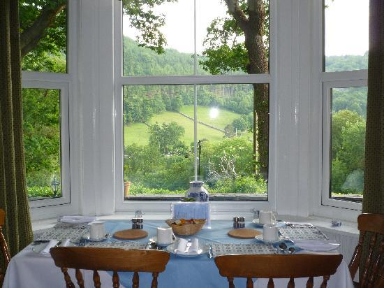 Betws-y-Coed, UK: view from breakfast room