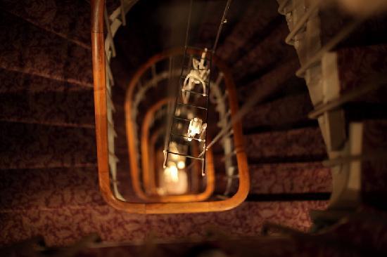 Hôtel des Académies et des Arts: amazing central staircase art