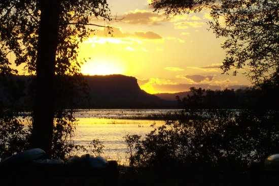 Trempealeau, WI: Sunset from campsite