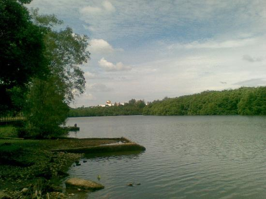 nurul iman palace from sungai damuan recreation park アジア