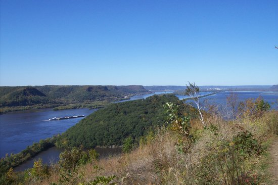 Wisconsin: View of Treampeleau Mountain from Perrot State Park