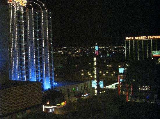 Golden Nugget Hotel: View out window at night