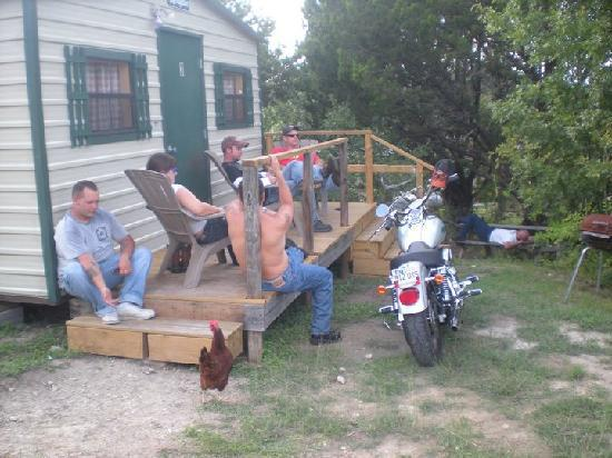 The Armadillo Farm Campground: Us all Hanging out on Will and I's rented Porch