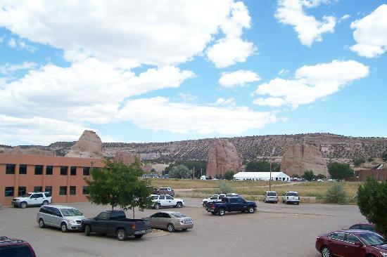 Window Rock, AZ: The beautiful scenery seen from the 2nd floor